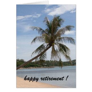 Cartes retraite de palmier