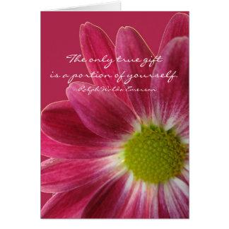 Cartes Retraite de professeur, fleur rose