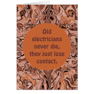 Cartes retraite d'électricien