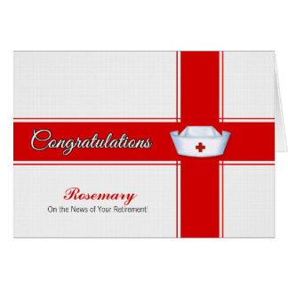 Cartes Retraite des félicitations de soins - nom