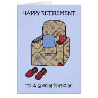 Cartes Retraite heureuse de médecin