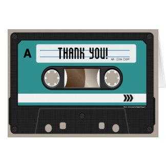 Cartes Rétro 80s cassette Mixtape personnalisé
