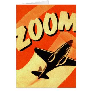 Cartes Rétro bourdonnement vintage d'avions d'avion de
