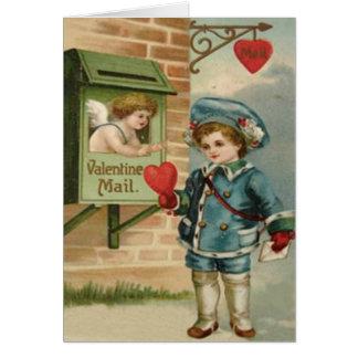 Cartes Rétro cupidon victorien vintage Valentine C de