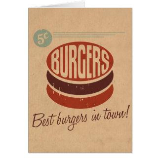 Cartes Rétro hamburger