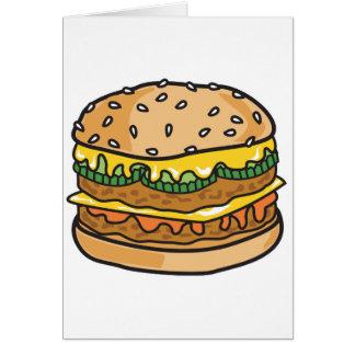 Cartes rétro hamburger de fromage