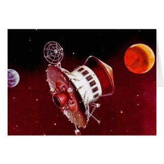 Cartes Rétro Lander 1967 vintage de Sci fi Mars