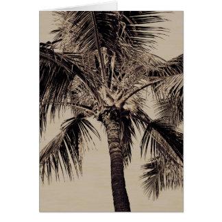 Cartes Rétro modèle hawaïen de palmier de sépia vintage
