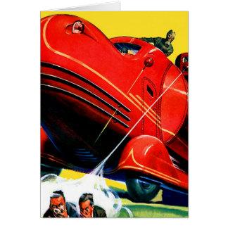 Cartes Rétro répression des émeutes vintage de Sci fi 30s