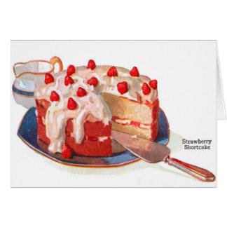 Cartes Rétro tarte sablée vintage de fraise de nourriture
