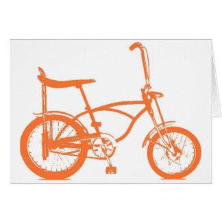 Cartes Rétro vélo orange de Seat de banane de Krate