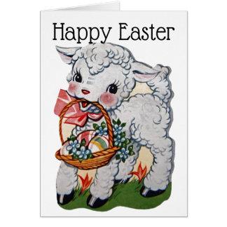 Cartes Rétro/vintage agneau de Pâques