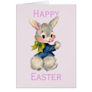 Cartes Rétro/vintage lapin de Pâques
