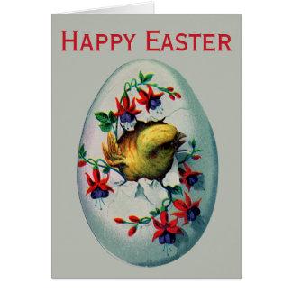 Cartes Rétro/vintage poussin de Pâques