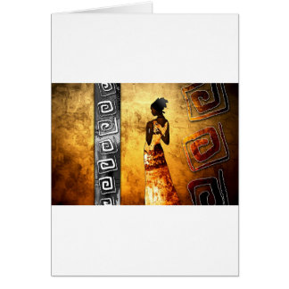 Cartes rétros cadeaux vintages de style d'af083 Afrique