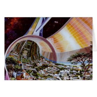 Cartes Rétros colonies vintages de l'espace de Sci fi de
