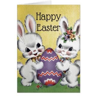 Cartes Rétros/vintages lapins de Pâques