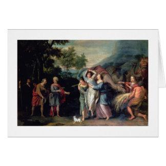 Cartes Réunion de Jacob et de Laban avec Rachel, Leah et