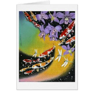 Cartes Rêve VIII (aube de libellule dans l'étang à
