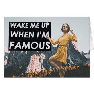 Cartes Réveillez-moi vers le haut de quand je suis