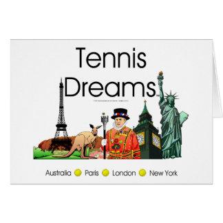 Cartes Rêves SUPÉRIEURS de tennis