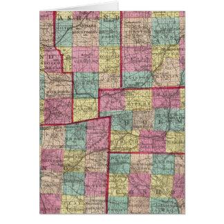 Cartes Richland et comtés de Wayne