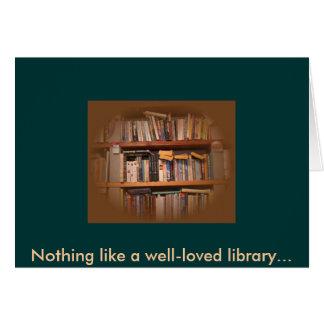 Cartes Rien n'aiment une bibliothèque bien-aimée…