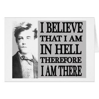 Cartes Rimbaud dans l'enfer
