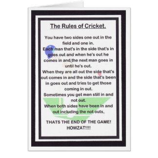 Cartes RIRE de DIVISION LATÉRAL pour l'amant de cricket