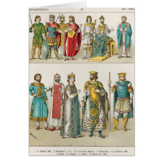 Cartes Robe à la cour bizantine