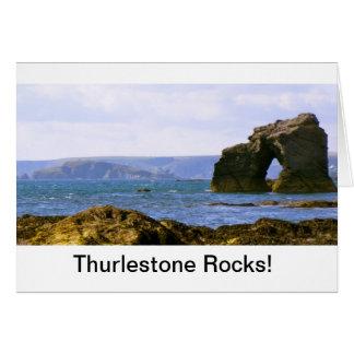 "Cartes ""Roches de Thurlestone ! ""Cadeau de Devon"