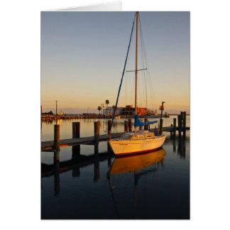 Cartes Rockport, port du Texas au coucher du soleil