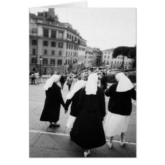 Cartes Rome Italie, patrouille de nonne ! (NR)