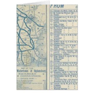 Cartes Rome, Watertown et chemin de fer d'Ogdensburg