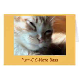 Cartes Ronronnement-c de Purrfectly, basse de C-Note de