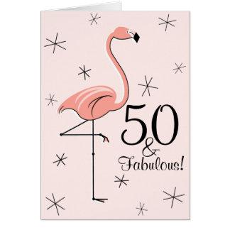 Cartes Rose 50 de flamant et fabuleux ! verticale