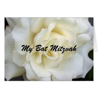 Cartes Rose blanc, mon bat mitzvah