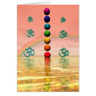 Cartes rose de chakras
