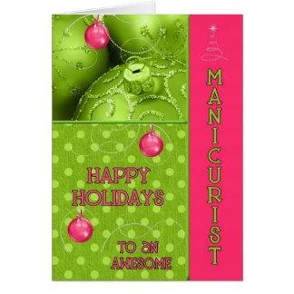 Cartes Rose et vert OBSOLÈTES de manucure