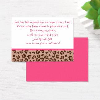 Cartes roses de demande de livre de guépard