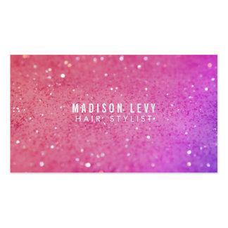 Cartes roses de rendez-vous de styliste de salon carte de visite standard