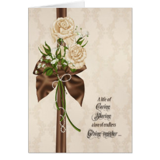 Cartes Roses de renouvellement de voeu de mariage