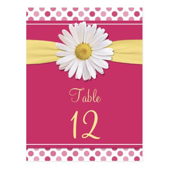 Cartes roses de Tableau de marguerite de point de