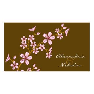 Cartes roses douces de site Web de mariage de Carte De Visite Standard