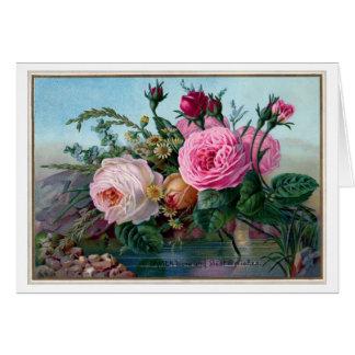 Cartes Roses roses vintages