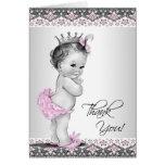 Cartes roses vintages de Merci de princesse baby s