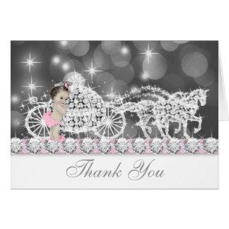 Cartes roses vintages douces de Merci de baby