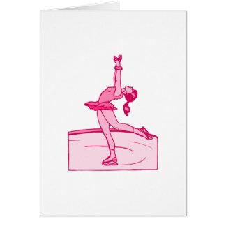 Cartes Rotation rose de patineur
