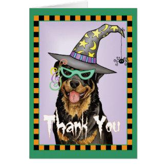 Cartes Rottweiler de Halloween