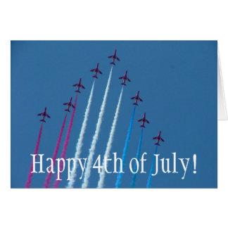 Cartes Rouge, blanc et bleu, heureux 4 juillet !